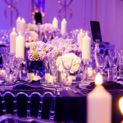 candles, decor, flowers, lighting, purple