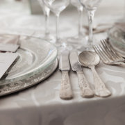 silver, table setting, table setting