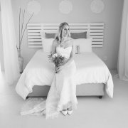 black and white, venue, wedding dress