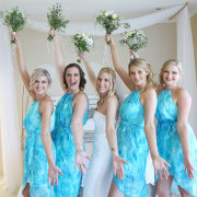 bouquet, bridesmaids dresses, wedding dress