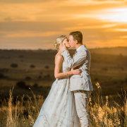 kiss, sunset