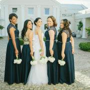 bouquet, bridesmaids, dresses