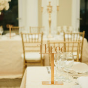 gold, table numbers
