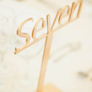 decor, gold, table numbers