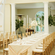 candles, centrepiece, chairs, decor