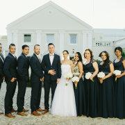 bouquet, bridal party, bridesmaids dresses, navy blue