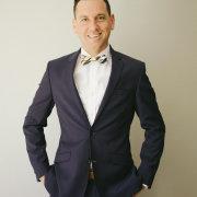 bowtie, navy blue, suit