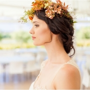 bride, flower crown