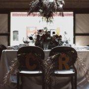 black, dark, table setting