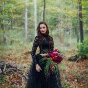 black, dark, dress, two