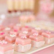 petit fours, pink