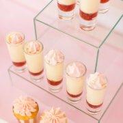 dessert, pink, dessert shooters
