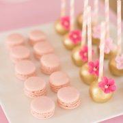 gold, macaroon, pink, cakepop