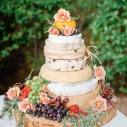 cake, cheese, fruit
