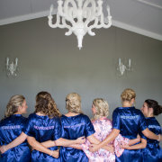 blue, bridesmaids, gowns, satin