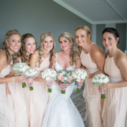 bouquets, bride, bridesmaids