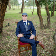 blue, groom, hat, suit, tie