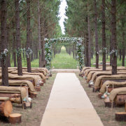 aisle, arch, ceremony, outdoors