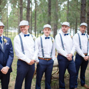bow ties, groom, groomsmen, hat, suit, suspenders, tie