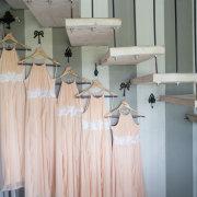 bridesmaid, dress, peach