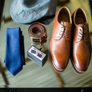 belt, cufflinks, groom shoes, tie