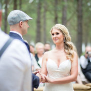 bride, ceremony, groom, hat, suspen