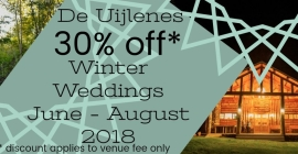 De Uijlenes Winter Special - 30% OFF Venue Fee