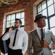 grooms accessories, hat, tie, watch