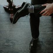 grooms shoes, socks