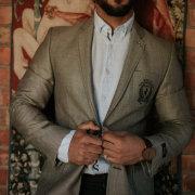 grooms, suit, watch