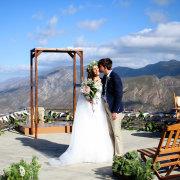 mountain view, wedding arch