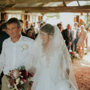 bouquet, bride, cerem, father of the bride, veil