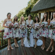 bouquets, bride, bride and bridesmaids
