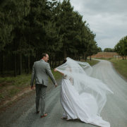 bride, groom, veil