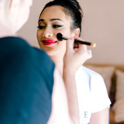 bridal make up, getting ready