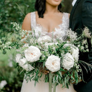 bouquet, bride, greenery, groom