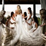 bride and bridesmaids, wedding dress, wedding dress, wedding dress