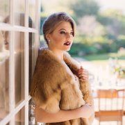 fur bolero, hair and makeup, hair and makeup