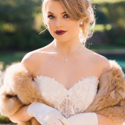 earings, fur bolero, gloves, hair and makeup, jewellery