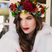 flower crown, hair and makeup