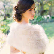 fur bolero, hair and makeup