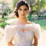 beaded, fur bolero, gloves, hair and makeup, wedding dresses