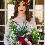 bouquets, flower crown, makeup, makeup, peonies and roses