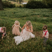 bride, flower girl, page boy