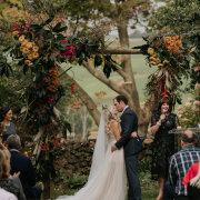 floral arches, kiss, kiss