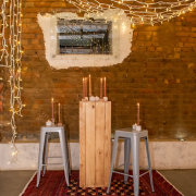 candles, fairy lights, wedding furniture