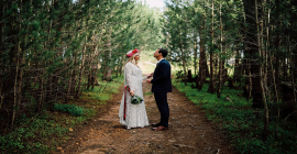 Magical Winter Weddings with Winery Road Forest