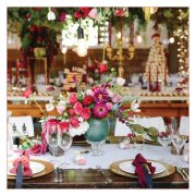 floral, floral centrepiece, table setting