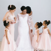 bride, bridesmaids, bridesmaids, flower girls, wedding dresses, wedding dresses
