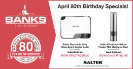 Banks Kitchen Shop 80th Birthday Sale